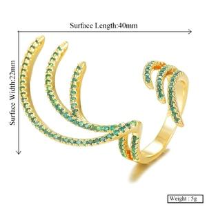 Image 5 - GODKI 2019 Charm Trendy Angel Wing Statement Stacks Rings for Women Cubic Zircon Finger Rings Beads Ring Boho Beach Jewelry