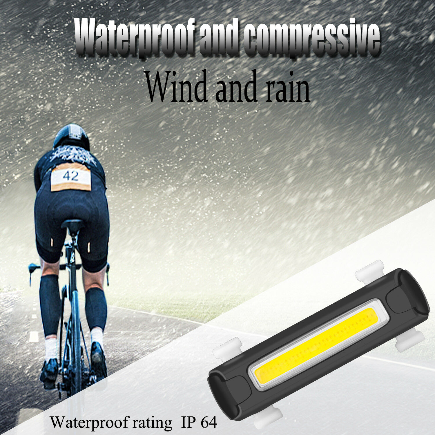 Bicycle Light Bike Rear Taillight Night Safety Warning Light LED USB Rechargeable Waterproof Cycling Bike Light Tail-lamp
