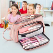 Big Capacity Canvas Storage Pouch Pen Pencil Case Stationery Bag Storage Bag Organizer Bag Holder For School Office 20x11x9cm