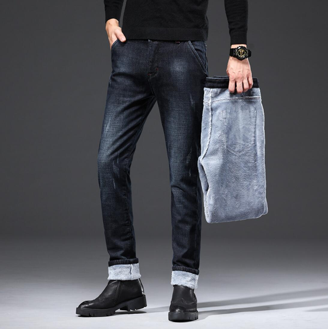 HOT 2020 Autumn Men's Jeans Casual Black Fashion Slim New Straight Stretch Men's Jeans KK7722-1-15