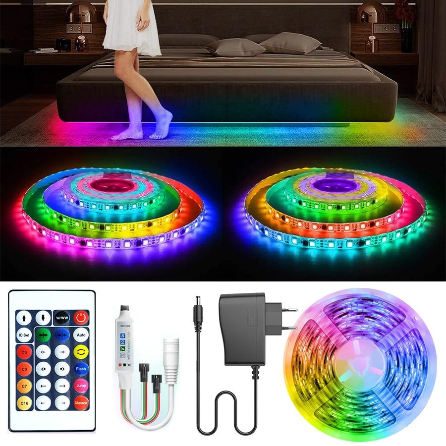 LED Streifen Lichter WS2811 Traum farbe SMD LED Licht RGB Einzeln Adressierbaren Smart Flexible Band RGB Klebeband Diode DC 12V