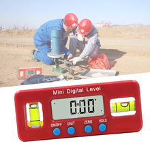 2key digital inclinometer level box protractor angle finder gauge meter bevel level boxes illuminated lcd display With Magnetic Base Digital Mini Angle Finder Bevel Red Precision Digital Protractor Inclinometer Water Proof Level Box