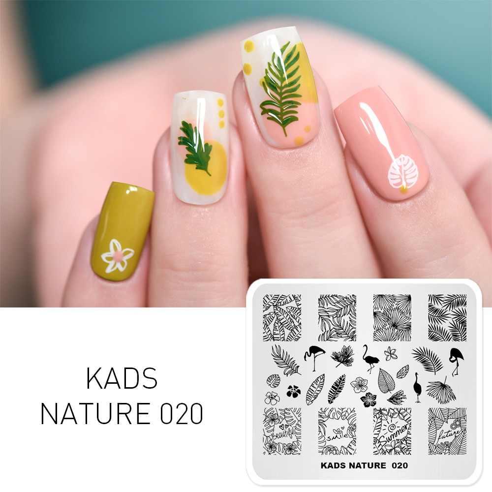 KADS Nail Art Stamping แผ่นเล็บภาพแสตมป์แม่แบบ 3D แฟชั่นรูปแบบภาษาโปลิชคำพิมพ์แสตมป์ DIY ลายฉลุเล็บเครื่องมือ