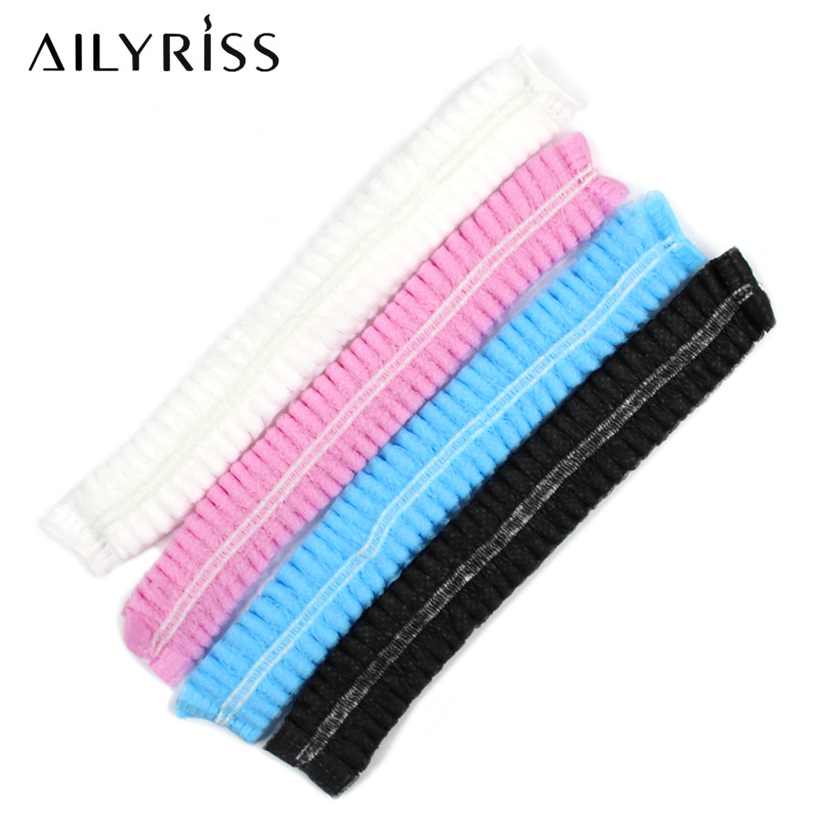 20/40 PCS Disposable Head Cover Cap Hair Net For Lash Extension Grafting Non Woven Anti Dust Bouffant Hats Beauty Accessories