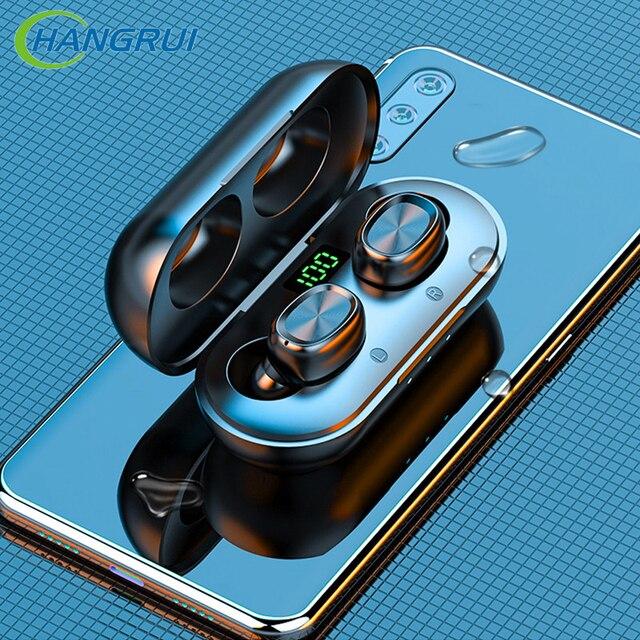 B5 TWS سماعات بلوتوث 5.0 سماعات لاسلكية مع هيئة التصنيع العسكري الرياضة مقاوم للماء سماعات أذن صغيرة سماعات آيفون iOS شاومي الهاتف