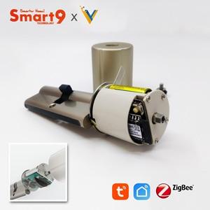 Image 4 - Smart9 ZigBee חכם מנעול Core צילינדר עבודה עם TuYa ZigBee רכזת, סוללה מופעל ושבב מוצפן מפתחות מופעל על ידי TuYa