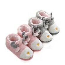 Suihyung zapatos de Invierno para mujer antideslizantes, suaves y Zapatillas de felpa, informales, sin cordones, con dibujos de animales, calzado plano de algodón cálido