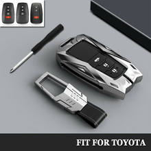 Zinc Alloy Car Key Cover Car Key Case for Toyota CHR C-HR Prado Camry Avalon Prius Corolla RAV4 Avalon Keychain Key Holder