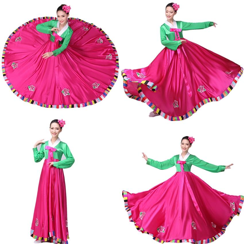 Korean Folk Dress For Women Hanbok Fashion Clothes Performance Dress Asian Traditional Korean Costumes Female Elegant