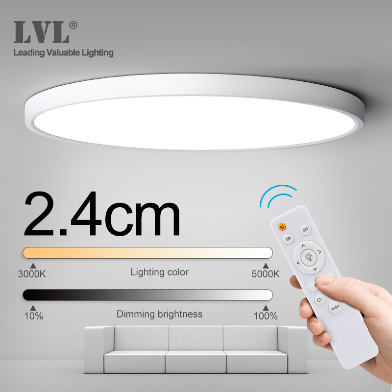 Modern Remote Control LED Ceiling Light 32W 36W 45W 220V Livingroom Kitchen Bedroom Bathroom RC Dimmable Ceiling Lamp