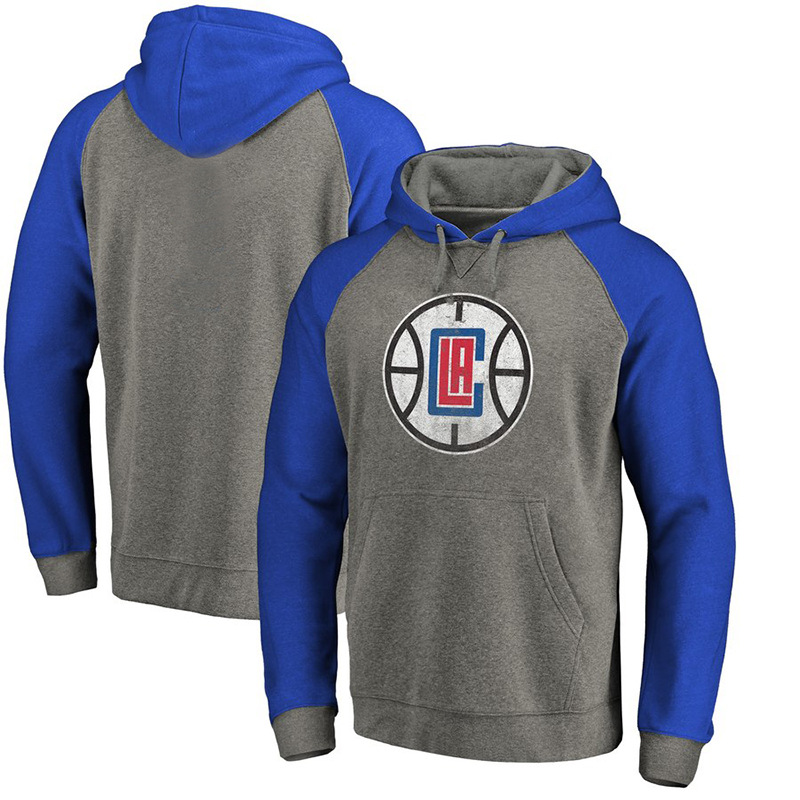 Los Angeles Clippers Basketball Sports Hoodie Men And Women Loose-Fit Training Jogging Long-sleeved Coat Dimensional Patch Pocke