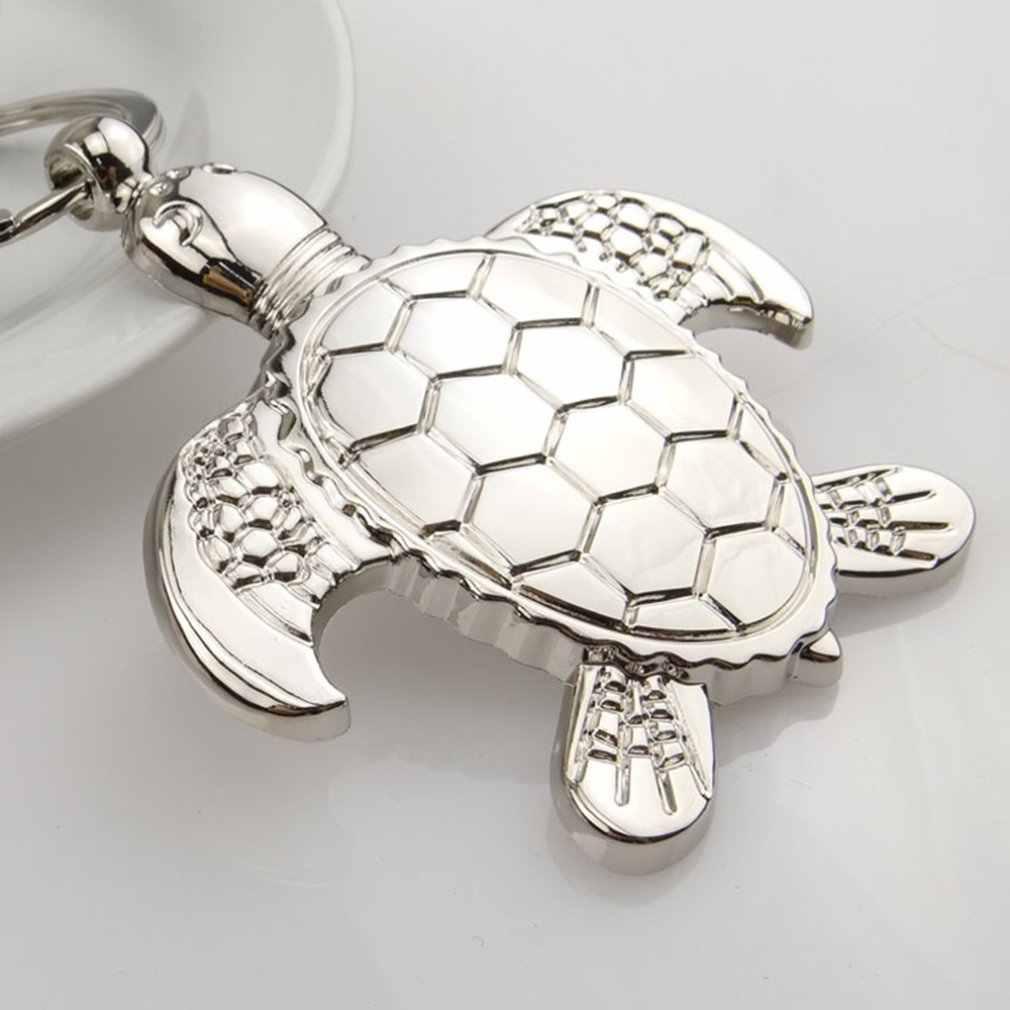 Tartaruga De Metal Keychain Dos Desenhos Animados Forma Animais Pingente Atividade Criativa Personalizado Pequeno Presente de Moda Profissional