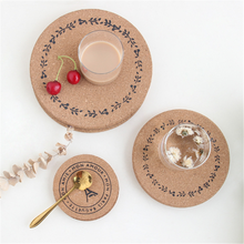Natural Cork Coaster Heat Resistant Cup Mug Mat Coffee Tea Hot Drink Placemat for Dining Table Kitchen Accessories diy retro lace wool placemat cup coaster tea mug coffee kitchen drink table place mat cloth crochet doilies dining felt pad 21cm