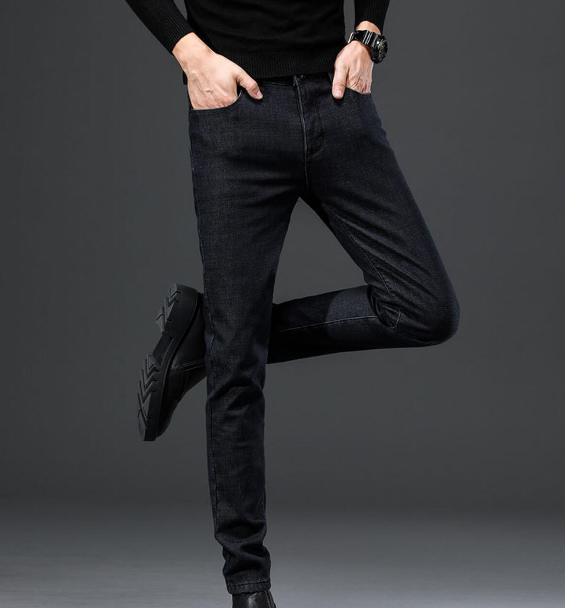 NEW 2020 Spring  Men's Jeans Maa1 Casual Black Fashion Slim New Straight Stretch Men's Jeans KK7722-15