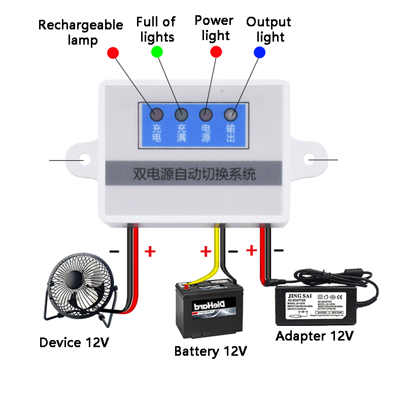 Power Failure Automatic Switching Battery Module Switch UPS Emergency Power Off Battery Power Supply Rechargeable