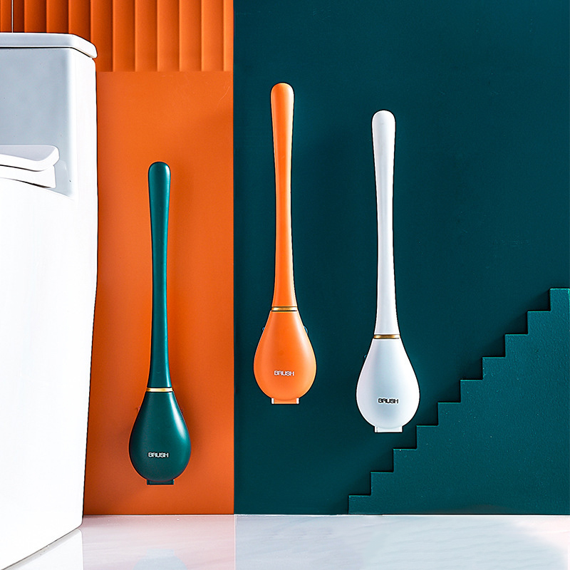 Auto-close Silicone Toilet Brush