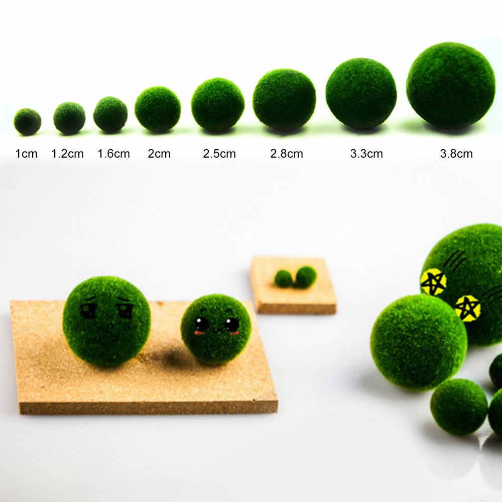 ירוק מיני אקווריום צמח האקווריום שרימפס Nano אצות כדור Marimo מוס כדורי דגי טנק קישוט קישוט