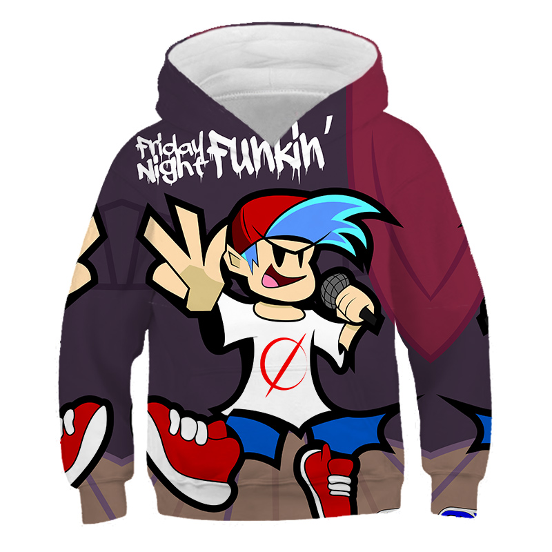 Fashion 2021 Friday Night Funkin 3D Hoodies Casual Tops Boys/girls Casual Slim Pullover Hot Sale Comfatable New Kids Hoodie