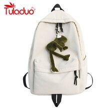 Solid Backpack School Bag for Teenage Girls College Wind Waterproof Oxford Women Men School Bag High Student Bag Black Rucksack