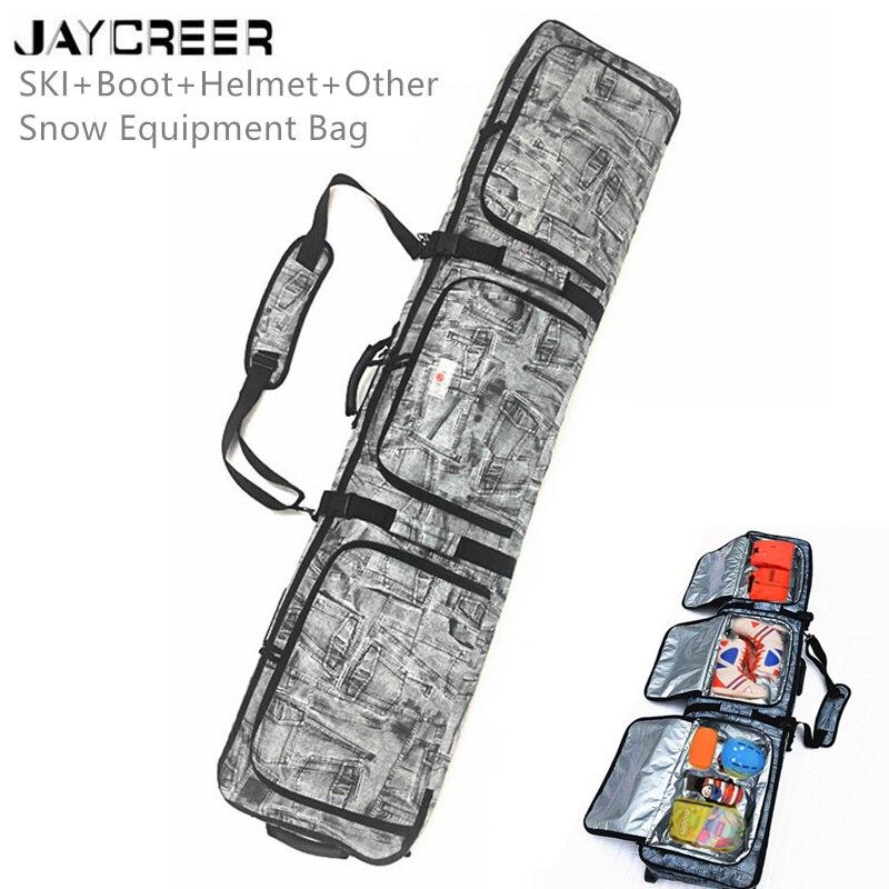 Jaycreer Ski-Equipment Snow Bag Cloth/bags Shoulders Durable Waterproof