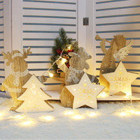 Christmas Snow Man/Angel/Elk Decor Bauble LED Light Luminous Xmas Tree Ornaments LAD sale