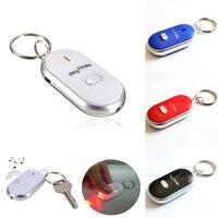 Localizador de llaves inteligente Led, Control de sonido, alarma, etiqueta de Antipérdida, bolso para niños, localizador de mascotas, llavero de seguimiento, linterna de silbato con llave perdida