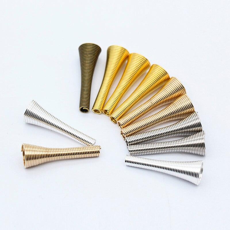 20p 9X28mm серебряное золото покрытая бронзой металлическая конусная пружинная катушка прокладка наконечники шариков колпачки для шариков для рукоделия серьги для ювелирных изделий