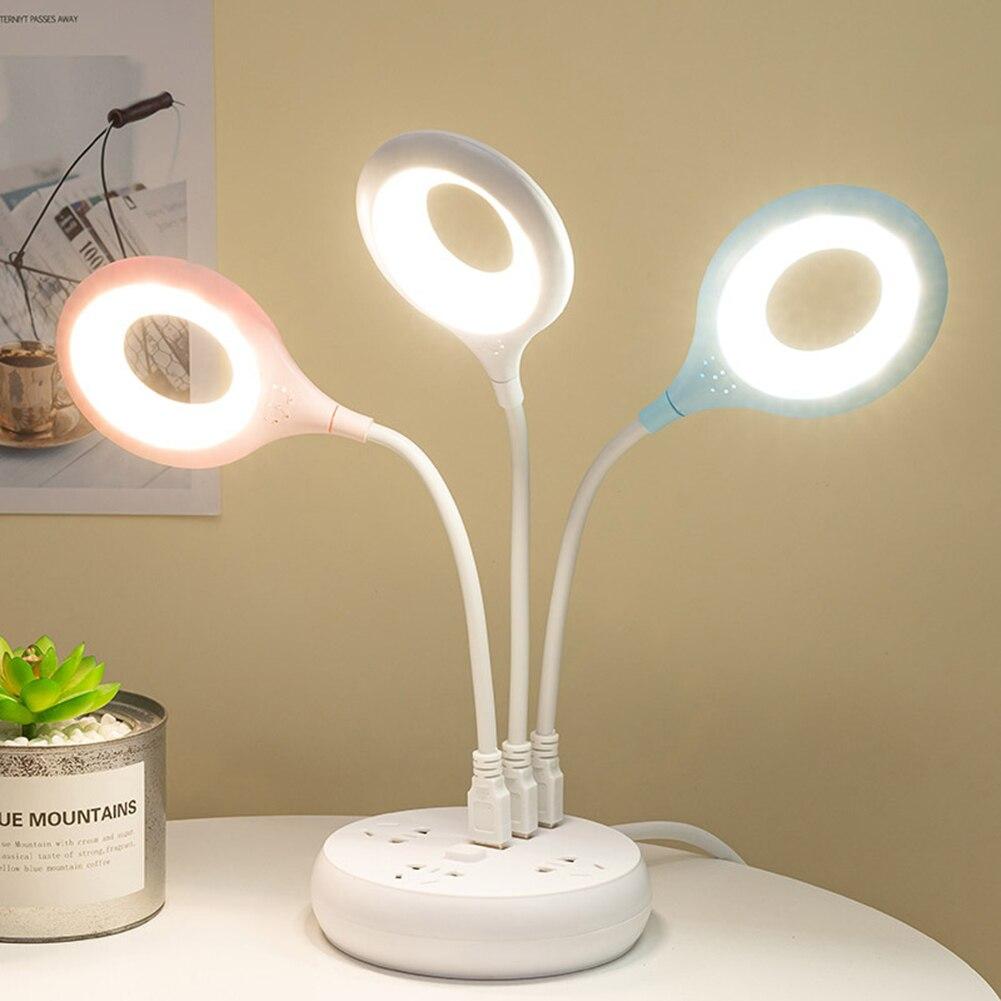 Светодиодный Портативный USB Перезаряжаемые флексографские принтеры кольцевая лампа Спальня для чтения книги ночные огни Защита глаз насто...