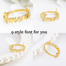 2019 personality name ring old English punk mens glamour woman jewelry birthday gift BFF