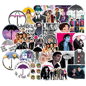 50PCS TV Series The Umbrella Academy Stickers Pack For DIY Stationery Laptop Skateboard Motorcycle Guitar Helmet Cool Sticker