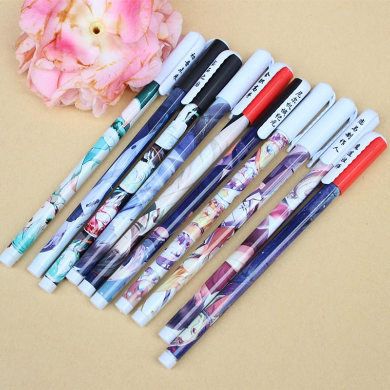 My Hero College And Other Anime Theme Gel Pen Stationery Gift 0.3 Mm Gel Pen And Cute Cartoon Character Pattern Novelty Gift