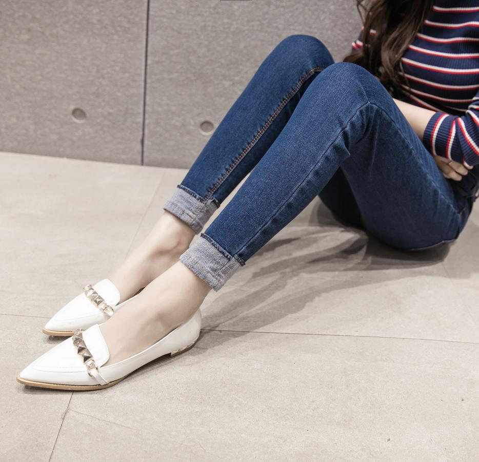 Korean Simple Jeans Women's Capri Jeans Summer Edition Slimming Autumn Clothing Tight-Fit Small Foot Length