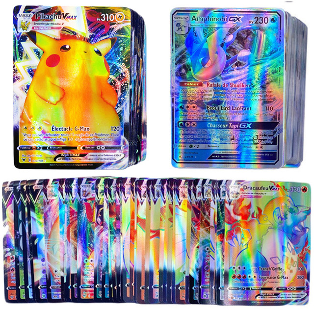 French Version Pokemon GX Card Shining TAKARA TOMY Cards Game Battle Carte Trading Children Toy