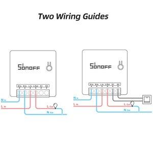 Image 5 - Sonoff básico/mini wifi em dois sentidos interruptor inteligente pequeno aplicativo/lan/voz/controle remoto diy suporte um interruptor externo do google casa alexa