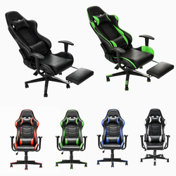 Panana High Grade Office Chair Home Racing Game Computer Chairs Reclining Seating Stable casters Soft Leather with Footrest
