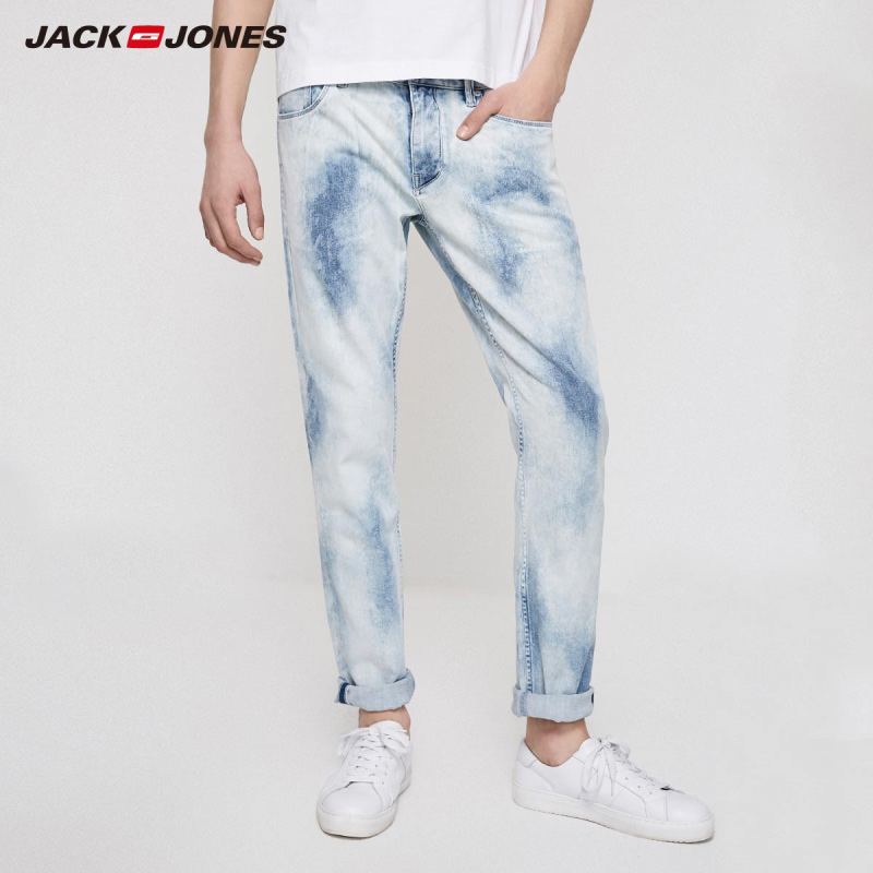JackJones Men's Winter Stretch Uneven Wash Jeans Menswear| 219232520