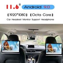 KANOR 11,6 дюймов Android 9,0 Автомобильный подголовник монитор 1920*1080 HD 1080P видео сенсорный экран wifi BT USB SD HDMI FM MP5 видео плеер