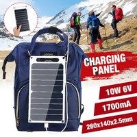 Leory Hot Koop 10W Waterdichte Zon Power Zonnecellen Lader 6V Usb Output Apparaten Draagbare Zonnepanelen Voor smartphones