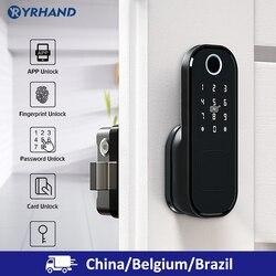 Huellas Dactilares bloqueo de la puerta impermeable al aire libre puerta Bluetooth cerradura TT Wifi código de tarjeta IC sin llave entrar cerradura electrónica