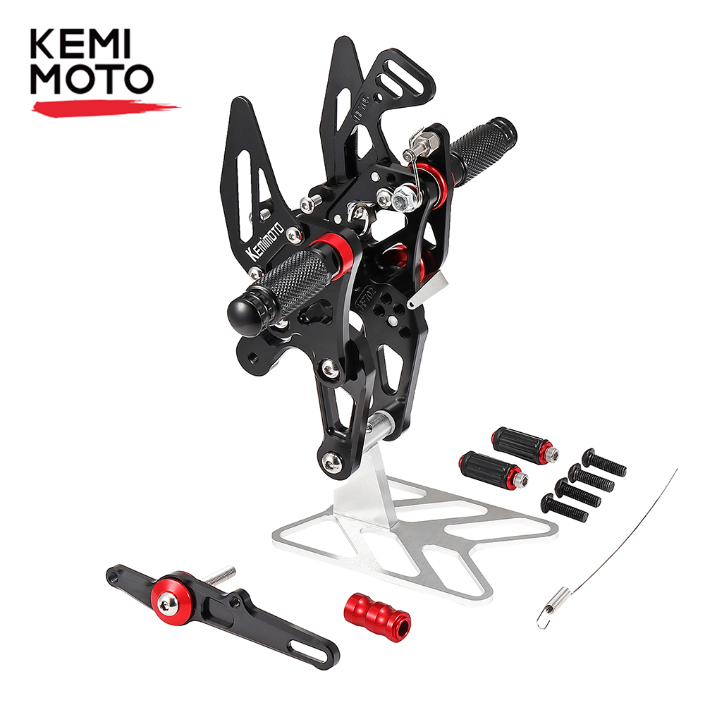 Motorcycle CNC Foot rest S1000RR Adjustable Rearset Foot Pegs for <font><b>BMW</b></font> S1000 <font><b>RR</b></font> 2015 2016 2017 Motorcycle <font><b>Accessories</b></font> image