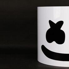 Typ błysku!!! Twardy PVC Marshmallow kask Purim wakacje żydowski DJ Marshmallow maska koncert rekwizyty dla fanów muzyki Prop bez diody LED