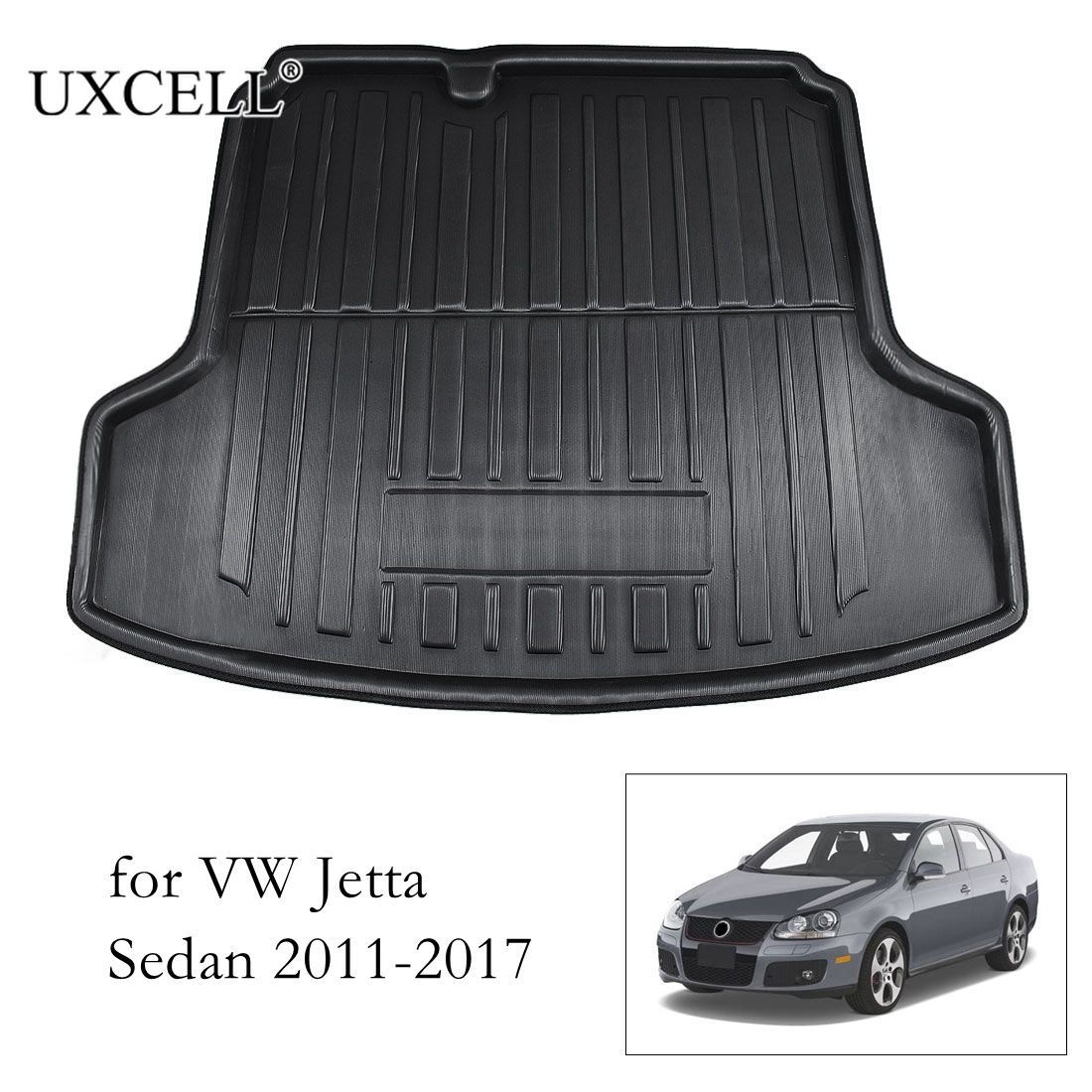Uxcell PE+EVA Foam Plastic Car Rear Trunk Floor Mat Cargo Boot Liner Carpet Tray For VW Jetta Sedan Tiguan Golf 6 7 MK7 Polo