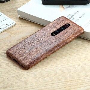 Image 5 - Naturalnie drewniane etui na telefon xiaomi 9T PRO, Redmi K20 Pro skrzynki pokrywa black ice drewno, orzech, palisander