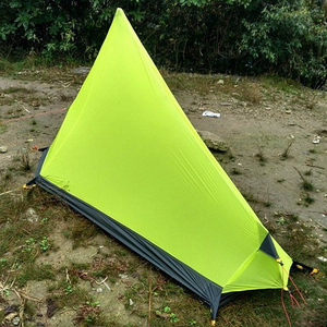 Image 4 - 3F UL Gear Rodless Tent Ultralight 15D Silicone Single Person Camping Tent 1 Person 3 Season With Footprint 3 Colors
