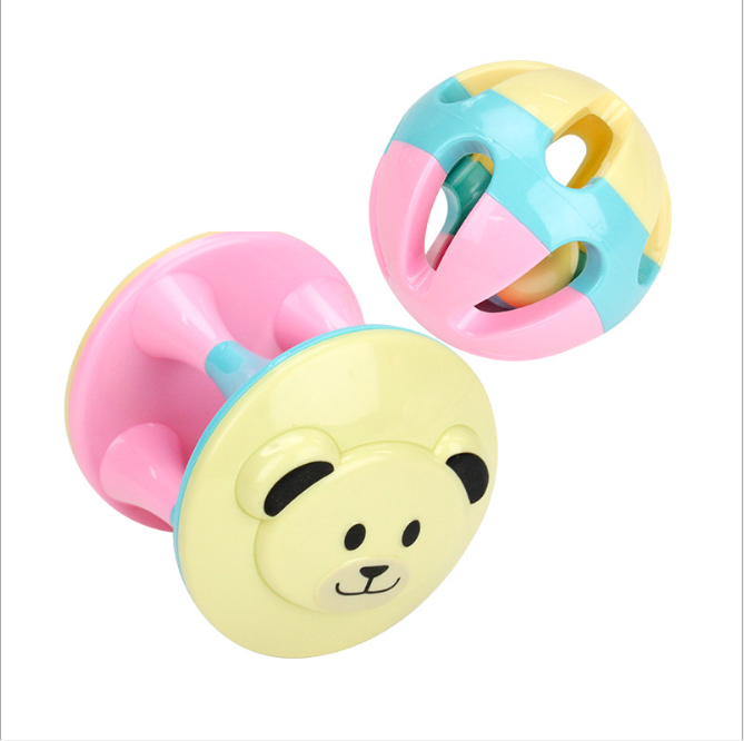 Plastic Baby Grasping Bell Ball Toys Children Pliable Ball Grasping Ball Bell Ball Educational Toys Fun Baby Toy Balls