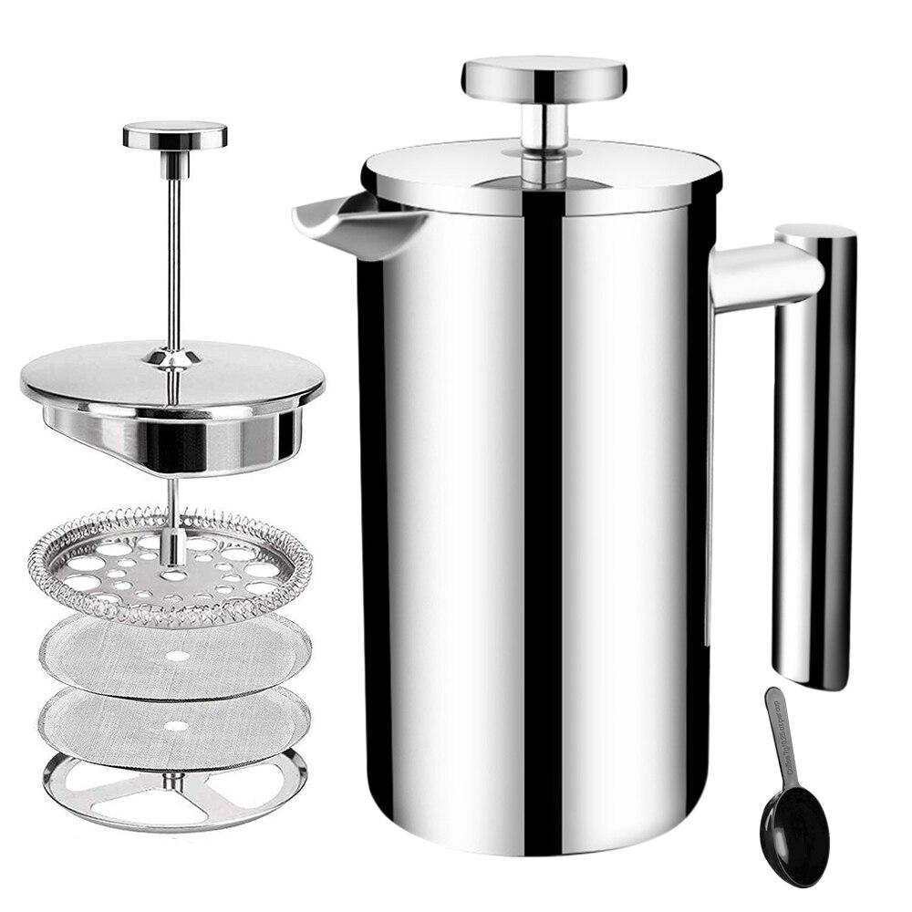 Lixada Press Coffee Maker Espresso Stovetop Stainless Steel Moka Pot Portable Cafetiere