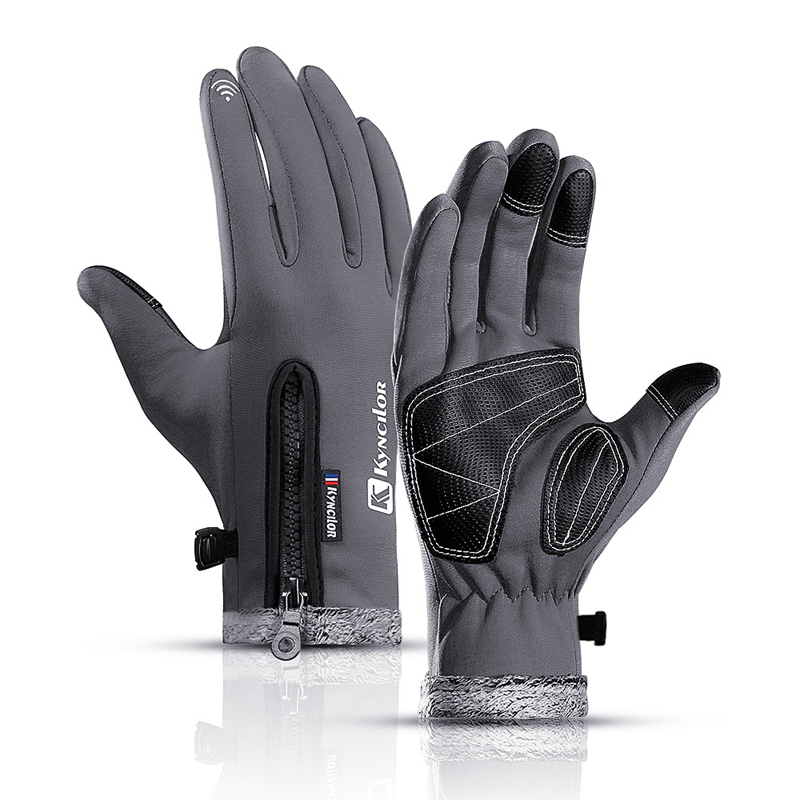 Men's Winter Touchscreen Ski Gloves Women's Windproof Warm Driving Gloves With Fleece Waterproof Fishing Gloves