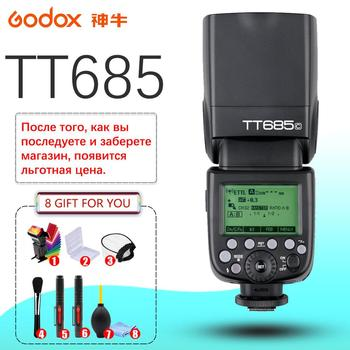 Godox TT685 TT685C TT685N TT685S TT685F TT685O 1/8000s TTL Flash Speedlite X1T Trigger for Canon Nikon Sony Fuji Olympus 2x godox tt685 tt685n 2 4g wireless hss 1 8000s i ttl camera flash speedlite xpro n ttl trigger for nikon dslr camera