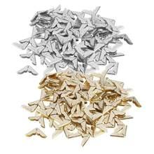 100 sztuk Book Folder Scrapbooking albumy Menu metalowe foldery zabezpieczenie narożników plik karty MFor DIY akcesoria do scrapbookingu