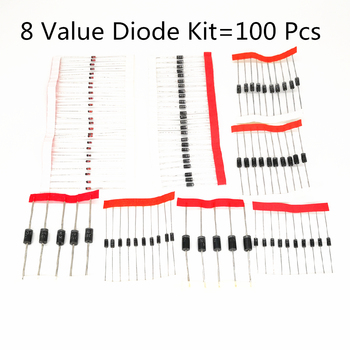 8 Value Diode Kit 1N4007 DIODE 1N4148 1N5817 1N5819 1N5399 1N5408 1N5822 FR107 FR207 1N4001 1N4002 1N4003 1N4004 1N4005 1N60 - discount item  10% OFF Active Components